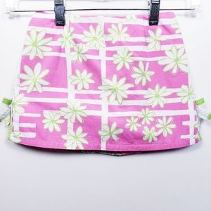 Lilly Pulitzer Pink And White Daisy Girls Skort 5